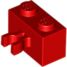 LEGO Red Brick 1 x 2 with Vertical Clip (Gap in Clip) (30237)