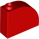 LEGO Red Brick 1 x 3 x 2 Curved Top (33243)
