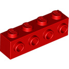 LEGO Red Brick 1 x 4 with 4 Studs on 1 Side (30414)