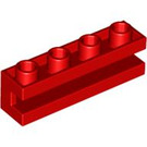 LEGO Red Brick 1 x 4 with Groove (2653)