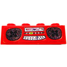 LEGO Red Brick 1 x 4 with Radio Sticker