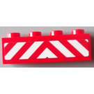 LEGO Red Brick 1 x 4 with Sticker from Set 60004