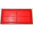 """LEGO Red Brick 10 x 20 with Edge Bottom Tubes and """" """" Cross Support"""