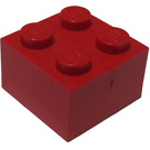 LEGO Red Brick 2 x 2 (Earlier, without Cross Supports)