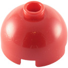 LEGO Red Brick 2 x 2 Round with Dome Top (Safety Stud with Bottom Axle Holder x Shape   Orientation) (30367)