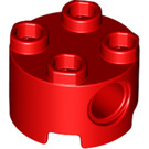 LEGO Red Brick 2 x 2 Round with Hole Ø4,85 (17485)