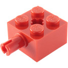 LEGO Red Brick 2 x 2 with Pin and Axlehole (6232 / 42929)
