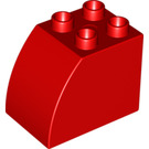 LEGO Red Brick 2 x 3 x 2 with Curved Side (11344)