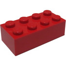 LEGO Red Brick 2 x 4 (Earlier, without Cross Supports)
