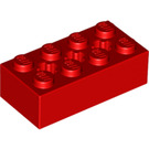 LEGO Red Brick 2 x 4 with Cross Hole (39789)