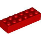 LEGO Red Brick 2 x 6 (2456 / 44237)