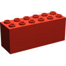 LEGO Red Brick 2 x 6 x 2 Weight with Plate Bottom (2378 / 73090)