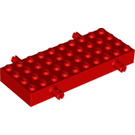 LEGO Red Brick 4 x 10 with Wheel Holders (30076)