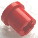 LEGO Red Bushing with Flange and Axlehole