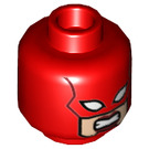 LEGO Red Captain Marvel Minifigure Head (Recessed Solid Stud) (25785)