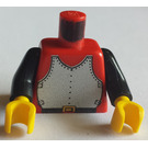 LEGO Castle Torso with Breastplate and Black Arms (973)