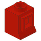 LEGO Red Classic Window 1 x 1 x 1 (Solid Stud, No Glass)