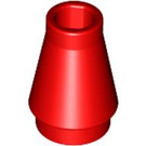 LEGO Red Cone 1 x 1 without Top Groove (4589)