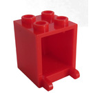 LEGO Red Container 2 x 2 x 2 with Recessed Studs (4345)