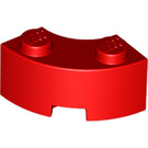 LEGO Red Corner Brick 2 x 2 with Stud Notch and Reinforced Underside (85080)