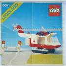 LEGO Red Cross Helicopter Set 6691 Instructions