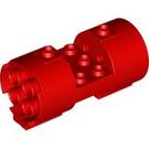LEGO Red Cylinder 3 x 6 x 2 2/3 Horizontal Hollow Center Studs (30360)