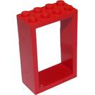 LEGO Red Door 2 x 4 x 5 Frame