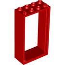 LEGO Red Door Frame 2 x 4 x 6 (60599)