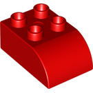 LEGO Red Duplo Brick 2 x 3 with Curved Top (2302)