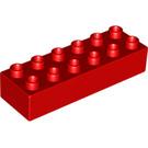 LEGO Red Duplo Brick 2 x 6 (2300)