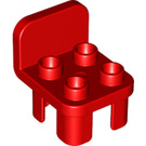 LEGO Red Duplo Chair 2 x 2 x 2 with Studs (6478 / 12651 / 34277)