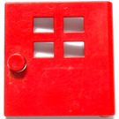 LEGO Red Duplo Door 1 x 4 x 3 with Four Windows Narrow
