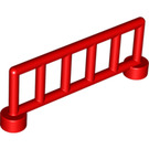LEGO Red Duplo Fence 1 x 6 x 2 with 6 Slats (12602)