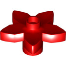 LEGO Red Duplo Flower with 5 Angular Petals (6510)