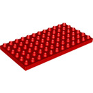 LEGO Red Duplo Plate 6 x 12 (4196 / 18921)