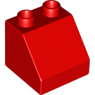 LEGO Red Duplo Slope 45° 2 x 2 x 1.5 (6474)