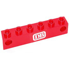 LEGO Red Electric Light Prism 1 x 6 Holder with White 'DB' Sticker