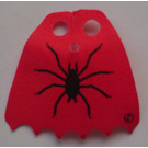 LEGO Red Fabric Scalloped Cape with Spider