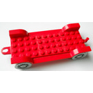 LEGO Red Fabuland Car Chassis 12 x 6 Old with Hitch