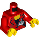 "LEGO Red Female Minifig Torso with ""Press""-Badge (76382)"