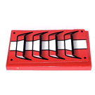 LEGO Red Tile 2 x 4 with Air Vents  Sticker