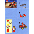 LEGO Red Four Wheel Driver Set 1273 Instructions