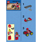 LEGO Red Four Wheel Driver Set 1283 Instructions