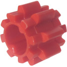 LEGO Red Gear with 8 Teeth Wide, Notched, and No Friction (11955)