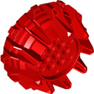 LEGO Red Giant Wheel with Pin Holes and Spokes (64712)