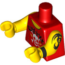 LEGO Red Gong and Guitar Rocker Minifig Torso (88585)