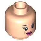 LEGO Red Harrington Head (Recessed Solid Stud) (13898)