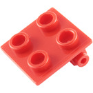 LEGO Red Hinge 2 x 2 Top (6134)
