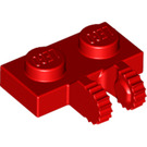 LEGO Red Hinge Plate 1 x 2 Locking with Dual Stub (60471)