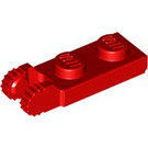 LEGO Red Hinge Plate 1 x 2 with Locking Fingers with Groove (44302 / 54657)